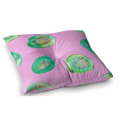 Kiwi Illustration by Danii Pollehn Floor Pillow Size: 23 x 23