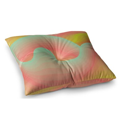 Way of the Waves by Akwaflorell Floor Pillow Size: 26 x 26