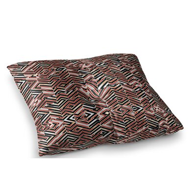 Maze Geometric Abstract 1 by Dawis Roc Floor Pillow Size: 23 x 23