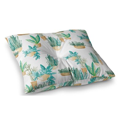 House Plants Illustration by Danii Pollehn Floor Pillow Size: 23 x 23