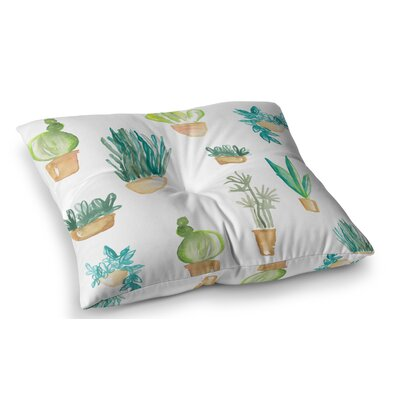 Plants and Cacti Illustration by Danii Pollehn Floor Pillow Size: 23 x 23