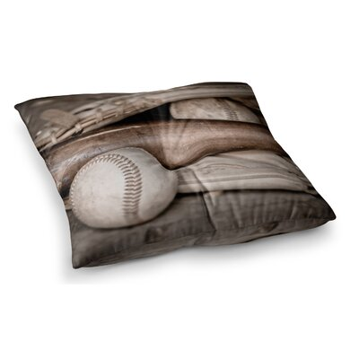 Play Baseball by Debbra Obertanec Floor Pillow Size: 26 x 26