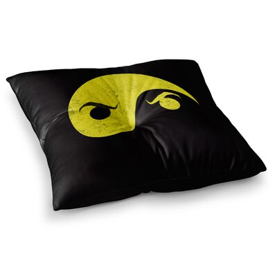 Yin Yang Ninja by Frederic Levy-Hadida Floor Pillow Size: 26 x 26