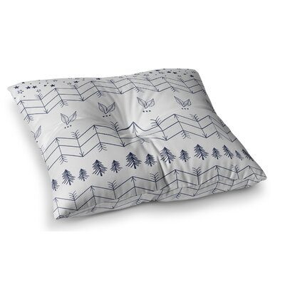 Tribal Arrows Jungle Stars Pattern by Famenxt Floor Pillow Size: 26 x 26, Color: Gray