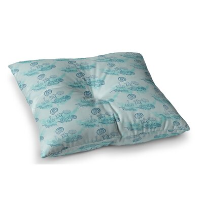 Ocean by Famenxt Floor Pillow Size: 26 x 26