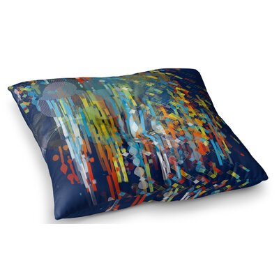 Color Fall by Frederic Levy-Hadida Floor Pillow Size: 26 x 26