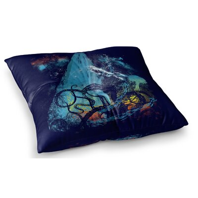 Danger from the Deep Underwater by Frederic Levy-Hadida Floor Pillow Size: 26 x 26