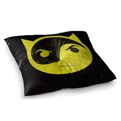 Bat Yin by Frederic Levy-Hadida Floor Pillow Size: 26 x 26