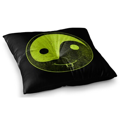 Bad Ass Ying Yang by Frederic Levy-Hadida Floor Pillow Size: 26 x 26