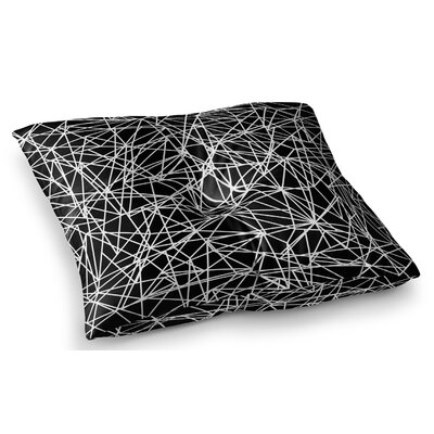 Bionic Rays Digital by Fimbis Floor Pillow Size: 23 x 23