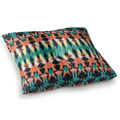 Triangle Visions by Akwaflorell Floor Pillow Size: 26 x 26