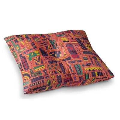 Squares by Akwaflorell Floor Pillow Size: 26 x 26