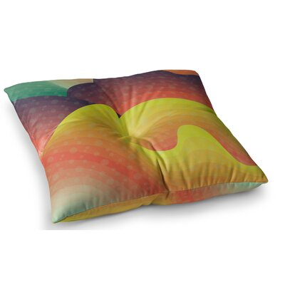 Waves Waves by Akwaflorell Floor Pillow Size: 23 x 23