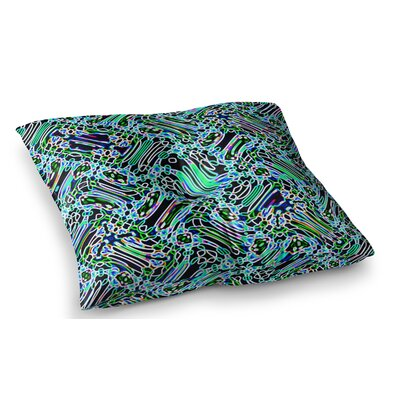 Camouflage by Dawid Roc Floor Pillow Size: 26 x 26, Color: Teal