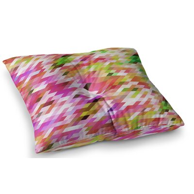 Spring Summer Geometric Pastel Digital by Dawid Roc Floor Pillow Size: 26 x 26