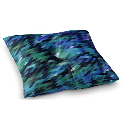 Geometric City Digital by Dawid Roc Floor Pillow Size: 26 x 26