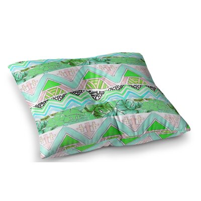 Tropicalstripes by Danii Pollehn Floor Pillow Size: 23 x 23