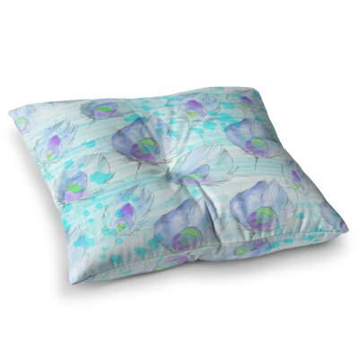 Featherdream Illustration by Danii Pollehn Floor Pillow Size: 23 x 23
