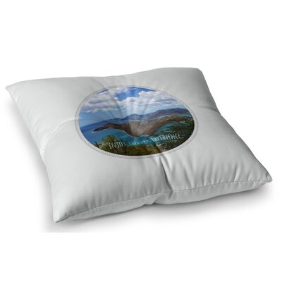 Enjoy Explore Experience Island by Deepti Munshaw Floor Pillow Size: 23 x 23