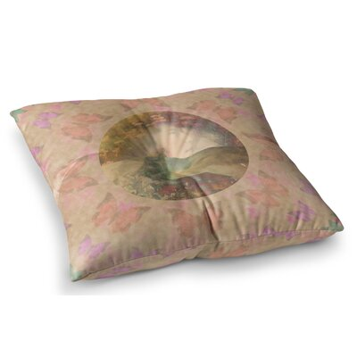Rebirth Butterfly Circle by Deepti Munshaw Floor Pillow Size: 26 x 26