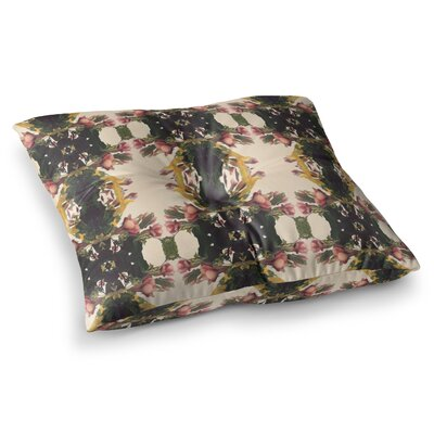 Enchanted Garden Floral by Deepti Munshaw Floor Pillow Size: 26 x 26