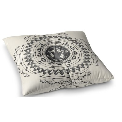 Boho Tribe Mandala by Famenxt Floor Pillow Size: 26 x 26