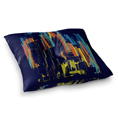 Strippy City by Frederic Levy-Hadida Floor Pillow Size: 23 x 23