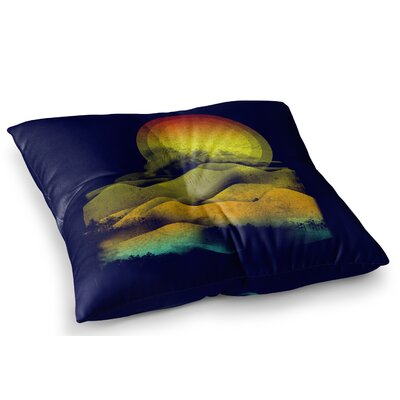 Sunset Landscape by Federic Levy-Hadida Floor Pillow Size: 26 x 26