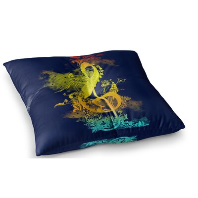 Sound of Nature Rainbow Music by Federic Levy-Hadida Floor Pillow Size: 26 x 26
