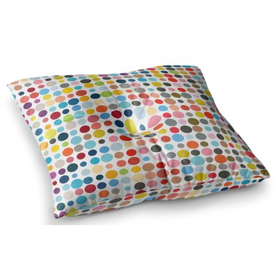 Tangled Up in Colour by Fimbis Floor Pillow Size: 26 x 26