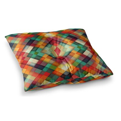 Time Between Geometric Abstract by Danny Ivan Floor Pillow Size: 26 x 26