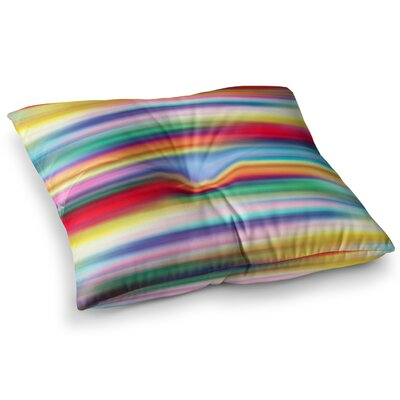 Blurry Cool Rainbow Blur by Danny Ivan Floor Pillow Size: 23 x 23