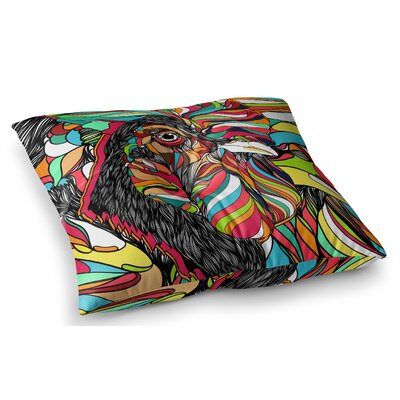 Tropical Cock by Danny Ivan Floor Pillow Size: 26 x 26