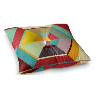 Color Mess by Danny Ivan Floor Pillow Size: 23 x 23