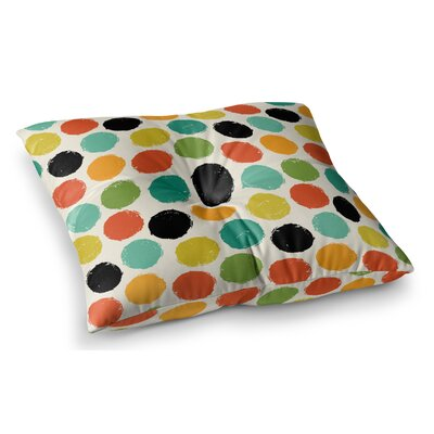 Retro Dots Repeat by Daisy Beatrice Floor Pillow Size: 23 x 23