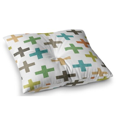 Hipster Crosses by Daisy Beatrice Floor Pillow Size: 26 x 26