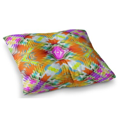 Colorful Tribal Mosaic by Dawid Roc Floor Pillow Size: 26 x 26