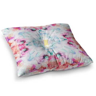 Hibiscus Kaleidoscope by Danii Pollehn Floor Pillow Size: 26 x 26