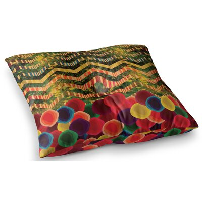 Chevron and Dots Rainbow by Deepti Munshaw Floor Pillow Size: 26 x 26