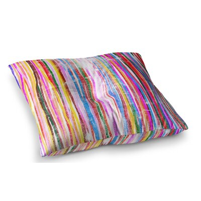 Fancy Stripes by Frederic Levy-Hadida Floor Pillow Size: 26 x 26, Color: Multi