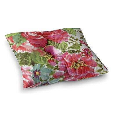 Walk Through the Garden Flowers by Heidi Jennings Floor Pillow Size: 23 x 23