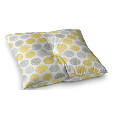 Sunspot Spots by Heidi Jennings Floor Pillow Size: 26 x 26
