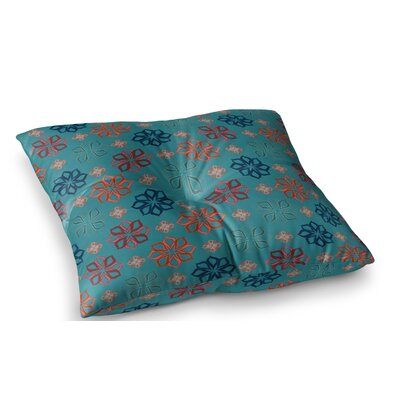 Turquoise Mini by Jolene Heckman Floor Pillow Size: 23 x 23