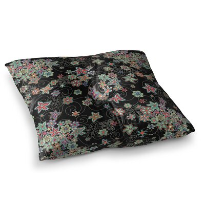My Small Flowers by Julia Grifol Floor Pillow Size: 26 x 26