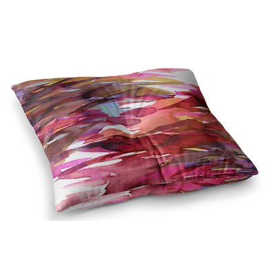 Fervor by Ebi Emporium Floor Pillow Size: 23 x 23, Color: Magenta