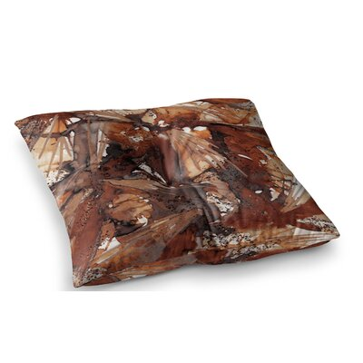 Birds of Prey by Ebi Emporium Floor Pillow Size: 23 x 23, Color: Beige/Brown