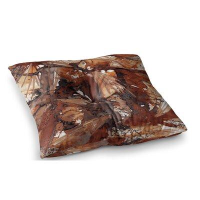 Birds of Prey by Ebi Emporium Floor Pillow Size: 26 x 26, Color: Beige/Brown