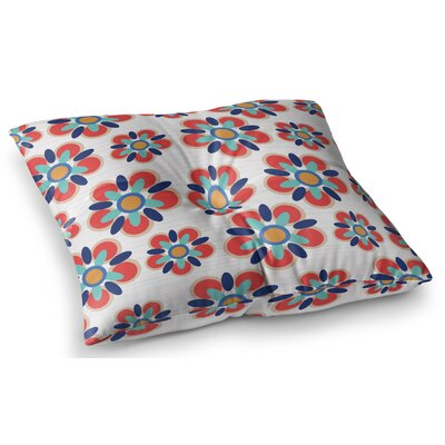 Red Folksy by Jolene Heckman Floor Pillow Size: 23 x 23