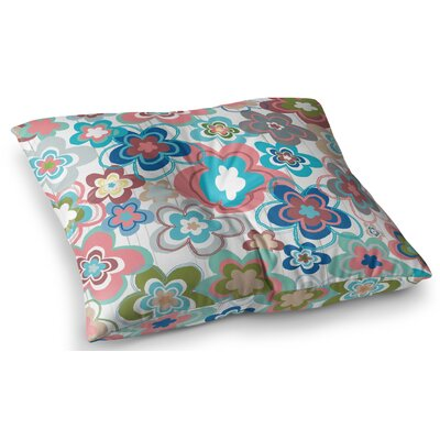 A Marsala Morning Floral by Jolene Heckman Floor Pillow Size: 23 x 23