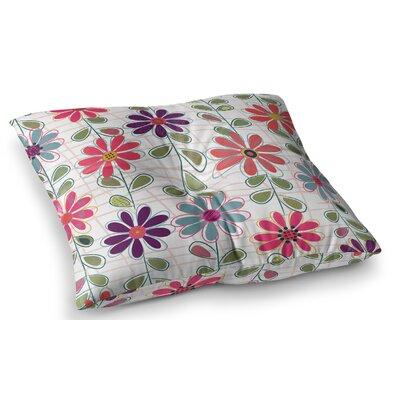 Fall Flowers by Jolene Heckman Floor Pillow Size: 23 x 23